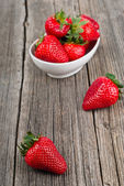 Strawberries in a bowl, Selective Focus — Stock Photo