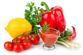 Tomato sauce with vegetables — Stock Photo