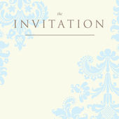Invitation to the wedding or announcements — Stock Vector