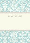 Invitation pour le mariage ou les annonces — Vecteur