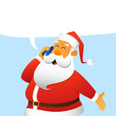 Santa Claus calls — Stock Vector