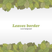 Borders of foliage — Stock Vector