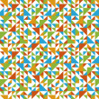Seamless geometric pattern with triangle. - Stock Vector