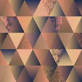 钻石无缝三角抽象图案 — 图库矢量图片
