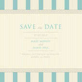 Save the Date with vintage background artwork — Stock Vector