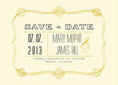 Classic Save the Date — Stock Vector