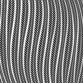Pattern Wheat Ear Blowing In The Wind — Stockvektor