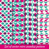 Set of Vintage seamless pattern hipsters — Stockvektor