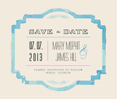 Save the date with watercolor frame — Stock Vector