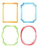 Set vintage artistic frames — Stock Vector