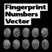 Количество отпечатков пальцев — Cтоковый вектор