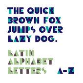 Geometryczne kształty liter alfabetu. retro czcionki. le alfabetu łacińskiego — Wektor stockowy