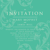 Invitation with a rich background in Renaissance style. Template — Stock Vector