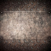 Oude grungy metalen achtergrond — Stockfoto