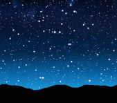 Starry sky at night — Stock Photo