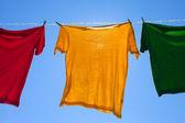 Košile na prádelní šňůru. — Stock fotografie