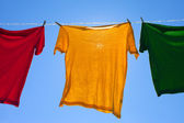 Shirts on clothesline. — Stock Photo