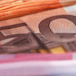 Closeup of banknotes. — Stock Photo