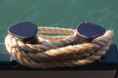 Rope on ship. — Stock Photo