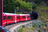 Train in Alps. — Stock Photo