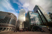 Skyscrapers in Canary Wharf, London Docklands. — Foto de Stock