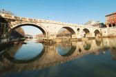 Bridge Ponte Sisto in Rome, Italy. — Stock Photo