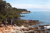 Sainte-margurite wyspa w cannes, francja. — Zdjęcie stockowe
