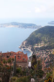 Eze village and Saint Jean Cap Ferrat, France. — Foto de Stock
