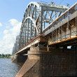 Riga railway bridge, Latvia. — Stock Photo #30484761