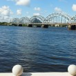 Stock Photo: Riga railway bridge, Latvia.