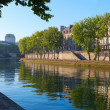 Stock Photo: Seine river at Saint Lois island , Paris.
