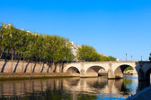 Seine river at Saint Lois island , Paris. — Stok fotoğraf