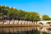Seine river at Saint Lois island , Paris. — Foto Stock