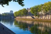 река сена на остров святого лоис, париж. — Стоковое фото