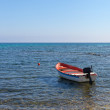 Boat in Mediterranean sea. — Stock Photo