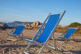 Beach chairs. — Zdjęcie stockowe