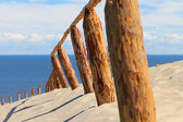 Sandy dunes, Curonian Spit , Lithuania. — Stock Photo