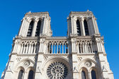 Towers of Notre Dame cathedral, Paris. — Stock fotografie