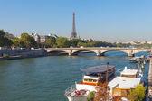 Paris, Seine river. — Stock Photo