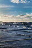 Stormy Baltic sea. — Stock Photo