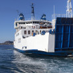 Ferry in Mediterranean sea. — Stock Photo #38424879