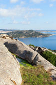 Wief from Bear rock, Sardinia, Italy. — 图库照片