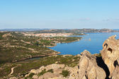 Wief from Bear rock, Sardinia, Italy. — Foto de Stock