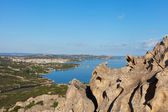 Wief from Bear rock, Sardinia, Italy. — Stock fotografie