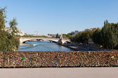 Padlocs, Seine, Paris. — Foto Stock