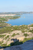 Palau city from cape Dorso, Sardinia. — Photo