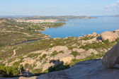 Palau city from cape Dorso, Sardinia. — Stock Photo