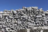 Recinzione in pietra. — Foto Stock