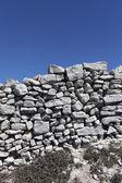 Stone fence. — Stock Photo