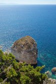 White cliffs , Corsica, France. — Stock fotografie